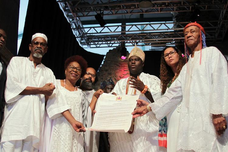 In historic visit of King Ooni Adeyeye Enitan Babatunde Ogunwusi of Ile-Ife, Nigeria, Bahia is declared the Yoruba Capital of theAmericas